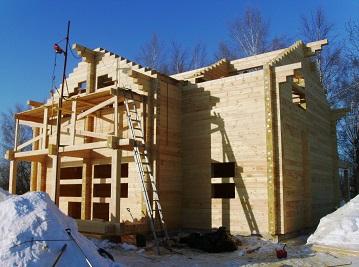 Строительство силовой части дома