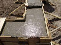 Фундамент. Заливка бетона