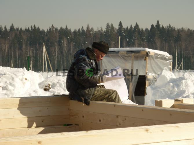 Строим зимой строго по проекту